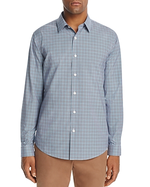 Theory Masked Gingham Long Sleeve Button-Down Shirt