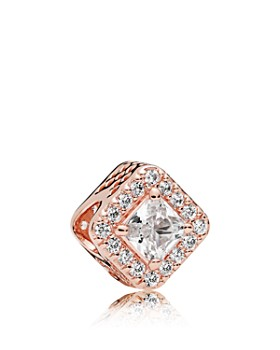 e0fbec78da5fe0 Pandora - Sterling Silver Rose Geometric Radiance Charm