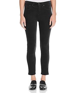 rag & bone/Jean Skinny Ankle Jeans in Black Velvet