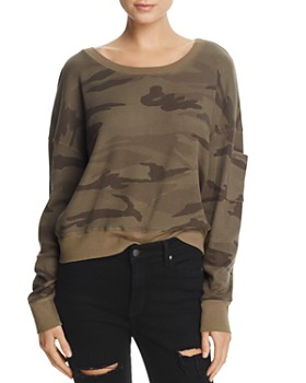 Splendid - Wedge Camo Cropped Top
