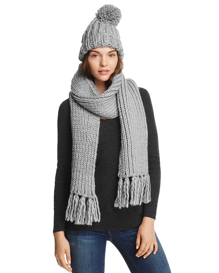 ee4c305a Barbour Chunky Pom-Pom Beanie & Scarf Set | Bloomingdale's