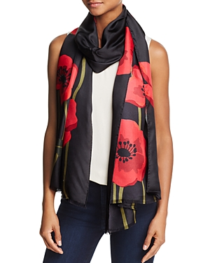 kate spade new york Poppy Silk Oblong Scarf