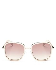 Jimmy Choo - Women's Elva Mirrored Square Sunglasses, 54mm
