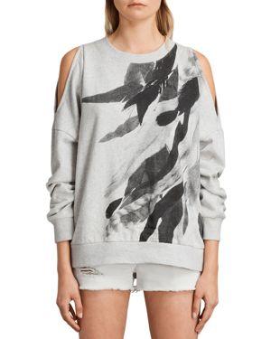 Allsaints Wing Unai Cold-Shoulder Sweatshirt