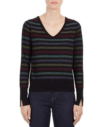 $Gerard Darel Lilo V-Neck Striped Sweater - Bloomingdale's