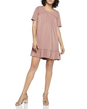 BCBGeneration Short-Sleeve Ruffle Hem Dress