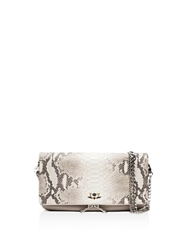 Zadig & Voltaire - Rock Python Embossed Leather Crossbody Clutch