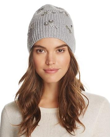 $AQUA Embellished Rib Hat - 100% Exclusive - Bloomingdale's