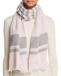 C by Bloomingdale's Lightweight Horizontal Stripe Cashmere Scarf - 100% Exclusive_0