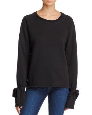 Paige Calandra Tie-Sleeve Sweatshirt