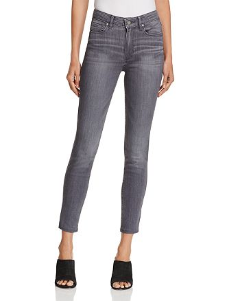 PAIGE - Hoxton Ankle Skinny Jeans in Watson Grey - 100% Exclusive