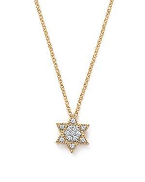 Roberto Coin 18K Yellow Gold Tiny Treasures Princess Diamond Star of David Necklace, 18