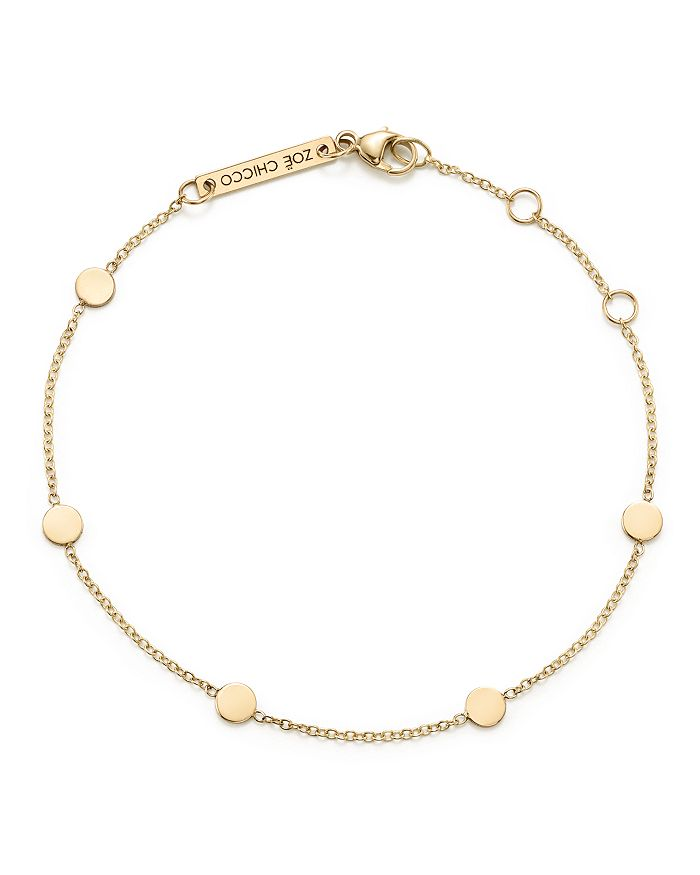 Zoë Chicco - 14K Yellow Gold Itty Bitty Disc Bracelet