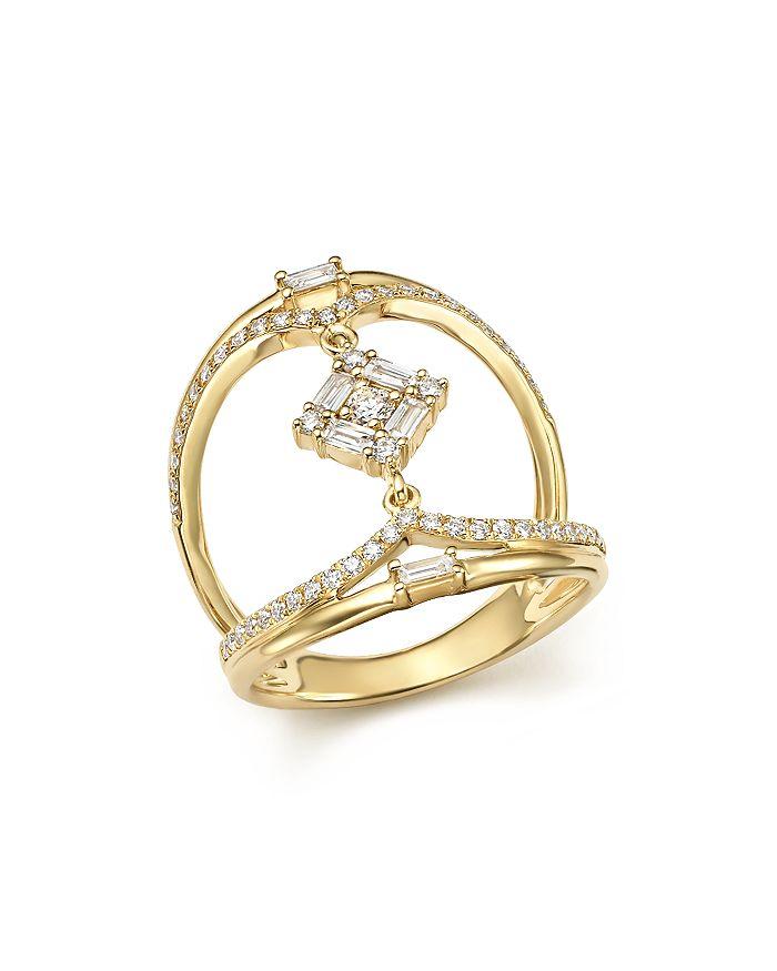 KC Designs - 14K Yellow Gold Mosaic Diamond Statement Ring