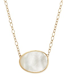 Marco Bicego - 18K Yellow Gold Lunaria Mother-of-Pearl Pendant Necklace, 16""