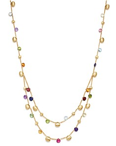 Marco Bicego - 18K Yellow Gold Paradise Teardrop Two Strand Gemstone Necklace