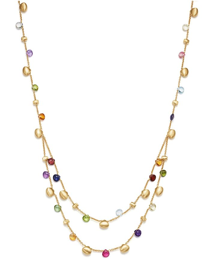 Marco Bicego - 18K Yellow Gold Paradise Teardrop Two Strand Gemstone Necklace