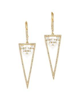 KC Designs - 14K Yellow Gold Mosaic Diamond Statement Earrings