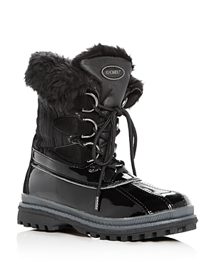 Khombu Women's Believe Waterproof Leather & Faux-Fur Cold-Weather Boots