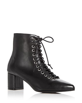 Archive - Women's Jane Leather Block Heel Booties