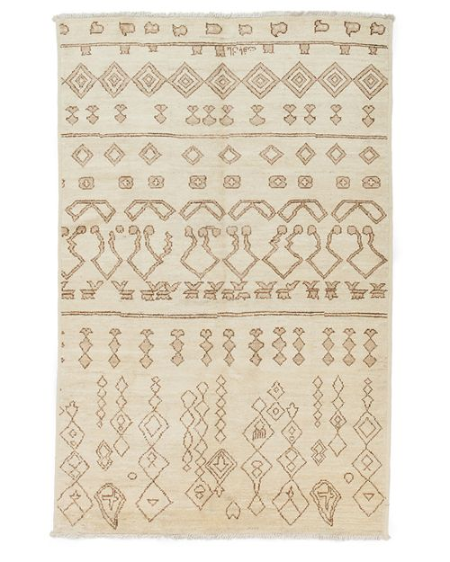 "Solo Rugs - Moroccan Area Rug, 9'3"" x 6'"