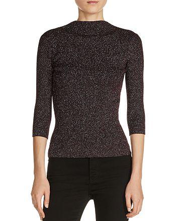 Maje - Mio Metallic Ribbed Sweater