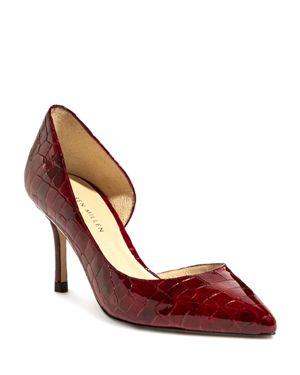 Karen Millen Women's Croc-Embossed Patent Leather Mid Heel Pumps thumbnail