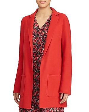 Lauren Ralph Lauren Open-Front Wool Jacket