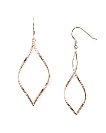 Argento Vivo - Twist Marquis 18K Rose Gold–Plated Sterling Silver Earrings