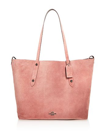 COACH - Reversible Large Market Tote in Suede & Crossgrain Leather