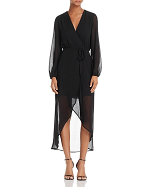 Bardot Chiffon Wrap Dress