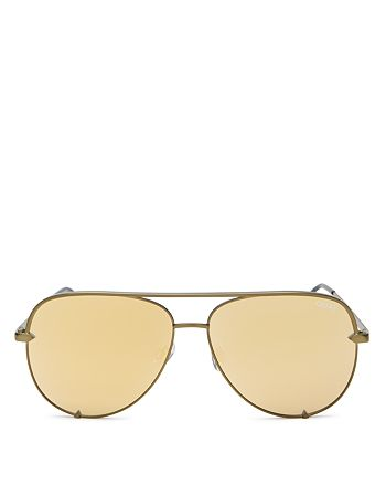 Quay - Women's High Key Mirrored Aviator Sunglasses, 56mm