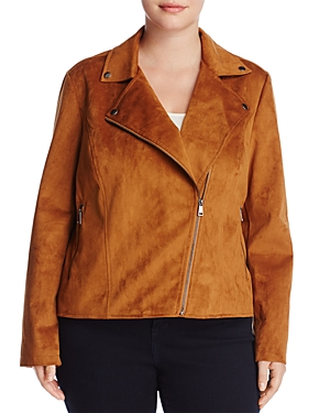 Bagatelle Plus Faux Suede Moto Jacket