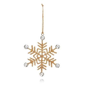Aman Imports Jute Snowflake Ornament