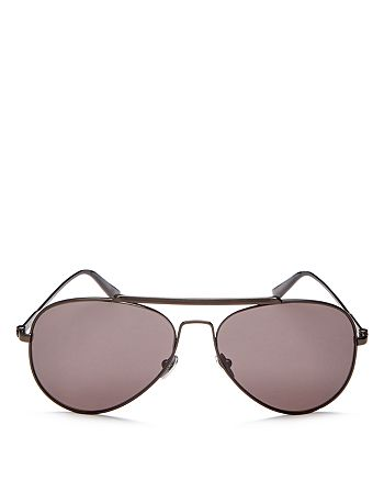 Calvin Klein - Men's Aviator Sunglasses, 58mm