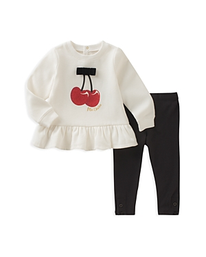 kate spade new york Girls' Cherry Sweatshirt & Leggings Set - Baby
