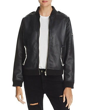 Chaser Faux Shearling Bomber Jacket