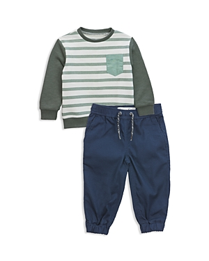 Sovereign Code Boys Striped Sweatshirt  Jogger Pants Set  Baby