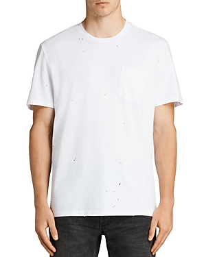 Allsaints Torr Distressed Pocket Tee