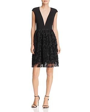 Aidan Aidan Fringe-Skirt Dress