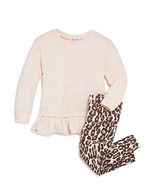 Splendid Girls Ruffled Sweatshirt  Leggings Set  Little Kid