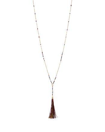 "Rebecca Minkoff - Long Tassel Pendant Necklace, 21"""