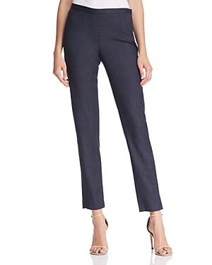 Elie Tahari Marcia Micro Plaid Straight Pants