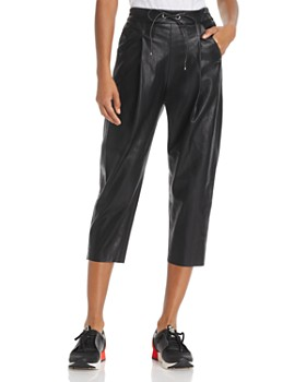 Molly Bracken - Faux Leather Track Pants