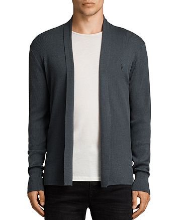 ALLSAINTS - Mode Merino Wool Open Cardigan Sweater