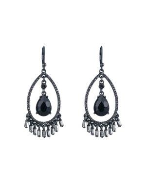 Carolee Open Teardrop Pave Earrings