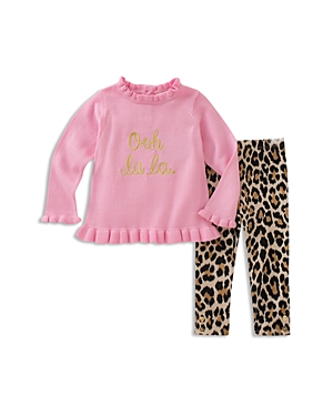 kate spade new york Girls' Ooh La La Ruffled Top & Leggings Set - Baby