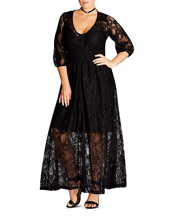 City Chic Plus - Lace Maxi Dress