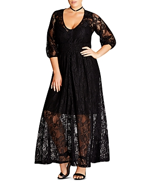 City Chic Lace Maxi Dress