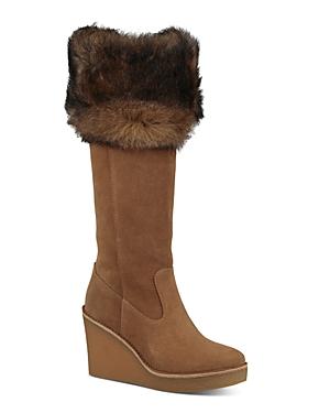 Ugg Women's Valberg Suede & Sheepskin Tall Wedge Boots